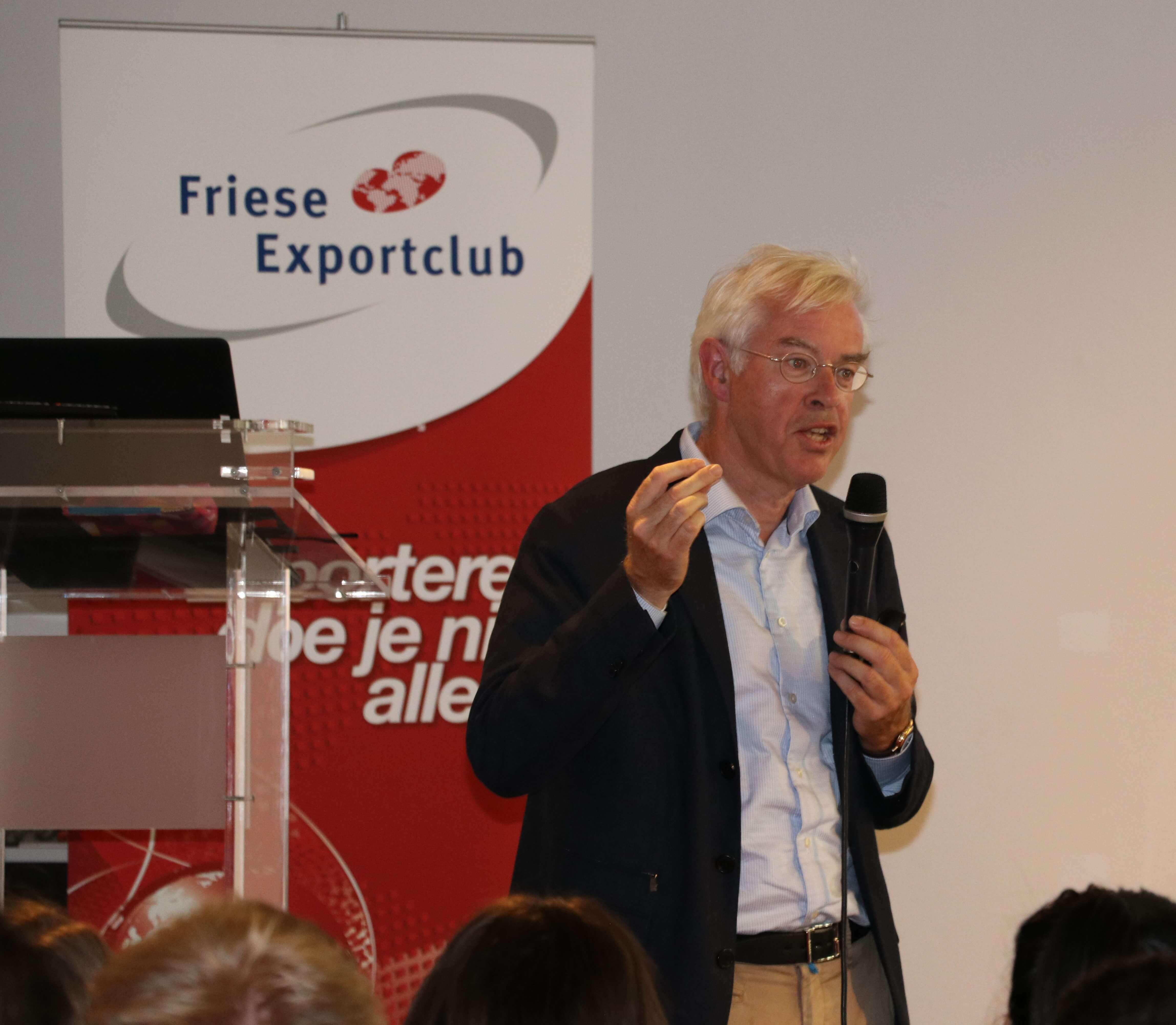 Hans Wouters bij export Carrousel evenement