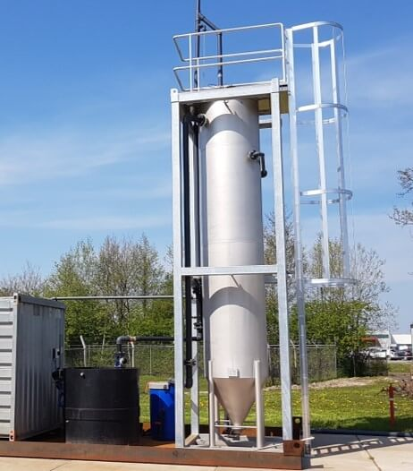 continuous media filtration for primary treatment of (municipal) waste water.