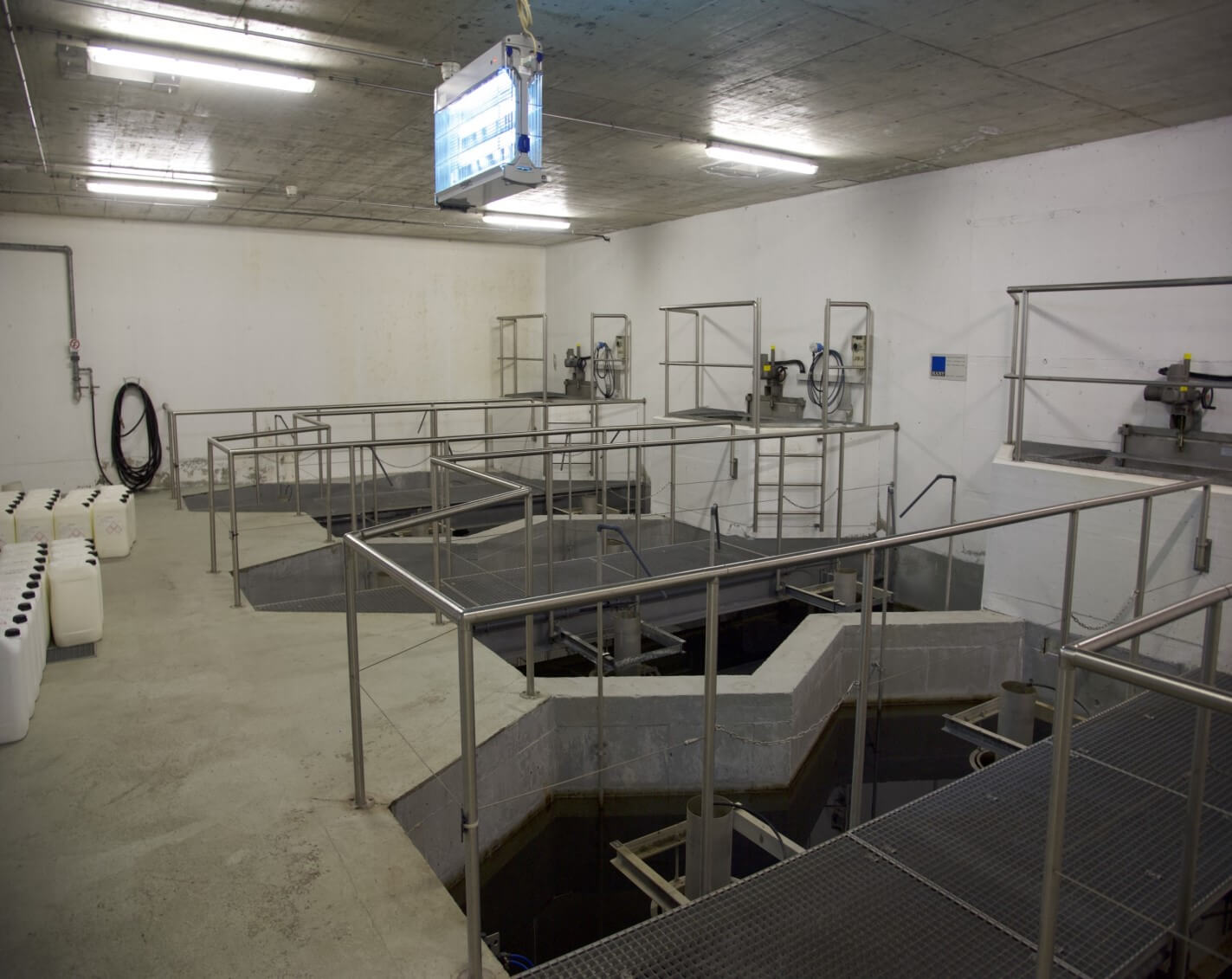 Sand filter units at the Barbengo WWTP